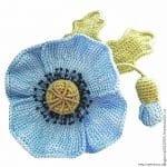 Tunus İşi Tekniği Örgü Çiçek Yapımı 13