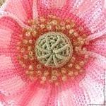 Tunus İşi Tekniği Örgü Çiçek Yapımı 3
