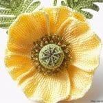 Tunus İşi Tekniği Örgü Çiçek Yapımı 6