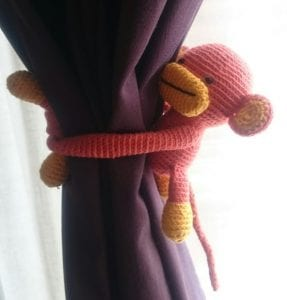 Amigurumi Perde Tutucu Maymun Yapımı 1