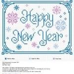 Kanaviçe Etamin Yeni Yıl Şablonları 9