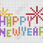 Kanaviçe Etamin Yeni Yıl Şablonları 3