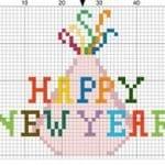 Kanaviçe Etamin Yeni Yıl Şablonları 51