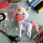 Keçe Unicorn Yapılışı 38