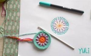 Mandala Motifli Battaniye Yapımı 3