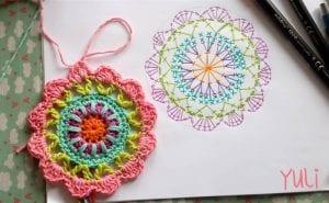 Mandala Motifli Battaniye Yapımı 5