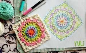 Mandala Motifli Battaniye Yapımı 6