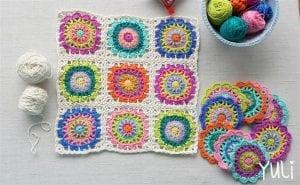 Mandala Motifli Battaniye Yapımı 7