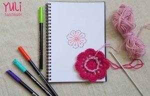Örgü Çiçek Yapımı Modelleri 11