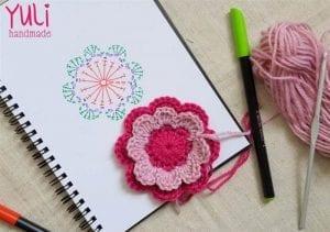 Örgü Çiçek Yapımı Modelleri 12