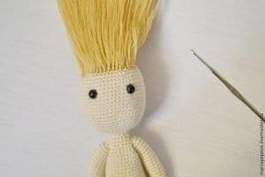 Oyuncak Bebek Saçı Yapımı 5