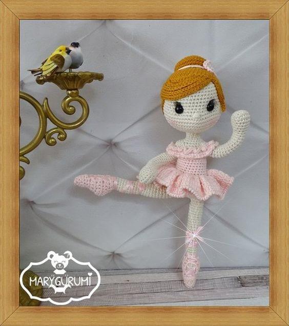 Amigurumi Balerin Bebek Yapılışı 18