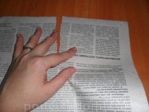 Gazeteden Kuş Yapımı