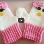 Hello Kitty Örgü Eldiven Yapımı