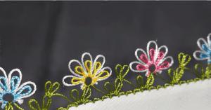 İğne Oyası Pırpırlı Çiçek Yapılışı