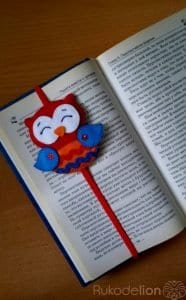 Keçeden Baykuş Kitap Ayracı Yapımı