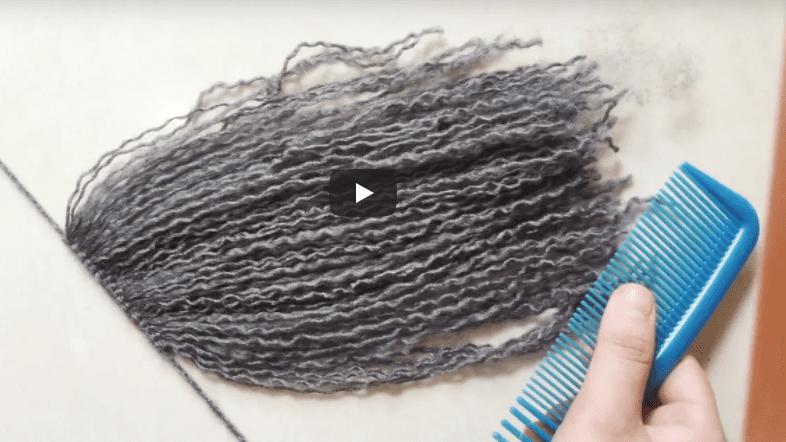 Amigurumi Bebekte Saç Yapımı : Yün İpten saç nasıl yapılır mimuu