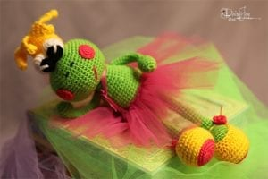 Amigurumi Balerin Kurbağa Yapımı 6