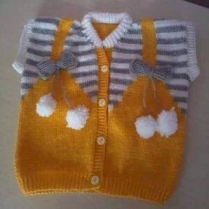 Ponponlu Bebek Yeleği Yapılışı 2