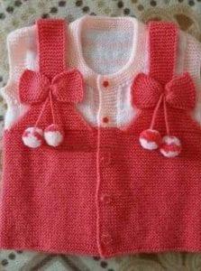 Ponponlu Bebek Yeleği Yapılışı 4