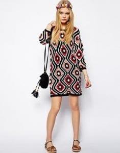 Anlatımlı Kışlık Örgü Elbise Modelleri 5
