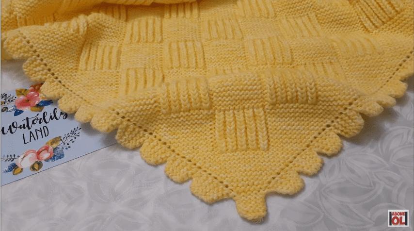 Selanik Örgü Bebek Battaniyesi Yapılışı