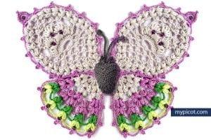Tığ İşi Örgü Kelebek Yapımı 34