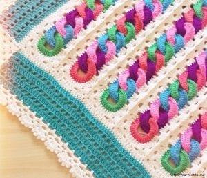 Halkalı Bebek Battaniyesi Yapılışı 10