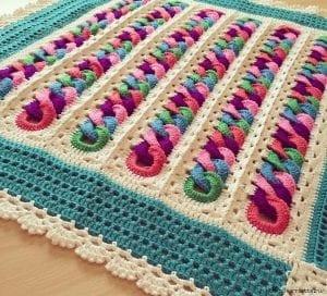 Halkalı Bebek Battaniyesi Yapılışı 8