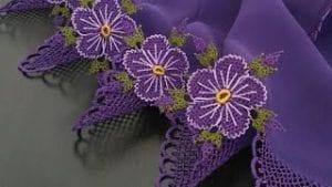 İğne Oyası Çiçek Modelleri Yapılışı 2