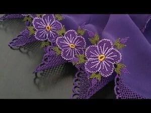 İğne Oyası Çiçek Modelleri Yapılışı