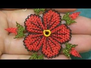 İğne Oyası Çiçek Modelleri Yapılışı 4