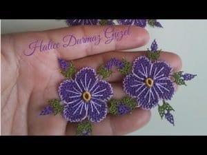 İğne Oyası Çiçek Modelleri Yapılışı 5