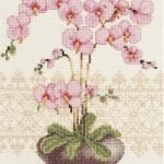 Kanaviçe Orkide Şablonları 10