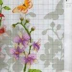 Kanaviçe Orkide Şablonları