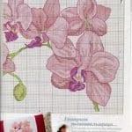 Kanaviçe Orkide Şablonları 19