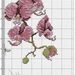 Kanaviçe Orkide Şablonları 23
