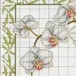 Kanaviçe Orkide Şablonları 24