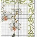 Kanaviçe Orkide Şablonları 25