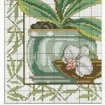 Kanaviçe Orkide Şablonları 26