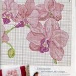Kanaviçe Orkide Şablonları 33