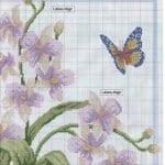 Kanaviçe Orkide Şablonları 3