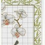 Kanaviçe Orkide Şablonları 5
