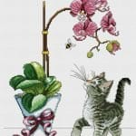 Kanaviçe Orkide Şablonları 6