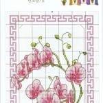 Kanaviçe Orkide Şablonları 7