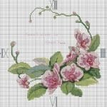 Kanaviçe Orkide Şablonları 8