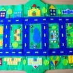 Keçeden Oyun Evi Battaniye Yapımı 19
