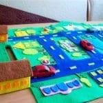 Keçeden Oyun Evi Battaniye Yapımı 26