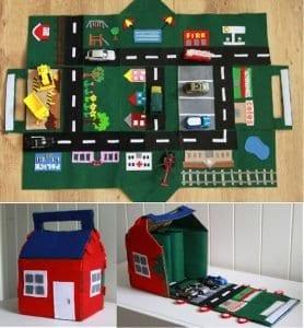 Keçeden Oyun Evi Battaniye Yapımı 34