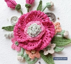 Örgü Çiçek Buketi Yapımı 1